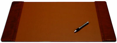 DACS-P3028-Dacasso Mocha Leather Desk Pad with Side Rails, 22-Inch by 14-Inch