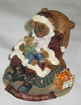 Boyds Retired Bearstone Kris Kringle Santa Music Box Joey 2000 Limited Edition