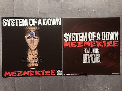 System Of A Down Mesmerize RARE promo 12 x 12 poster flat '05