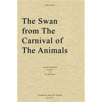 Camille Saint-Saëns: The Swan From The Carnival Of.... Brass Quintet Sheet Music