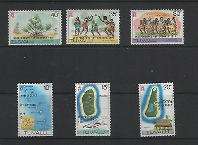 TUVALU INDEPENDENCE  1978 SET OF MINT STAMPS FREE p&p