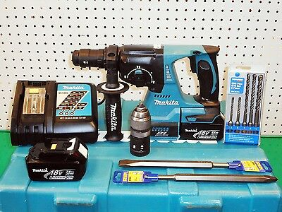 MAKITA DHR243 18v LITHIUM-ION BRUSHLESS SDS+ 3 MODE HAMMER DRILL / BREAKER