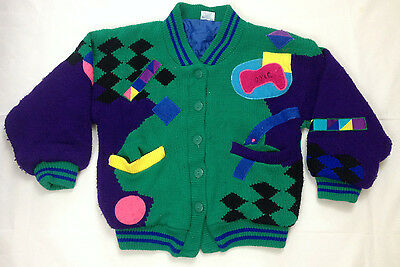 Honey cardigan kids 11 to 12 years vintage retro jumper green button front