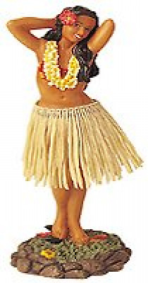 Dashboard Dancer Hula Doll Hawaiian Girl Bobble Surf Aloha Retro Movie Auto Car