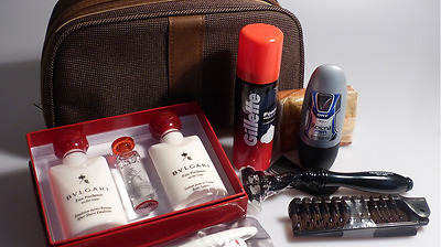 New & Unopened Emirates Airlines Business Class BVLGARI Airline Amenity Kit