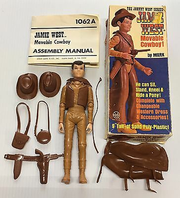 VINTAGE JAMIE WEST johnny west MARX ACTION FIGURE DOLL IN ORIG BOX 95% COMPLETE