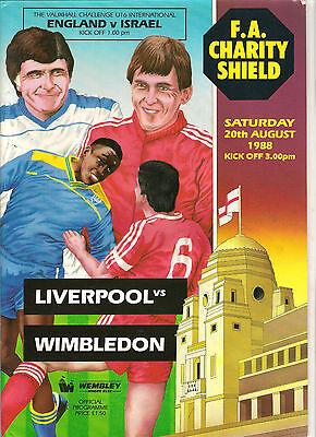 1988 Charity Shield--------Liverpool v Wimbledon