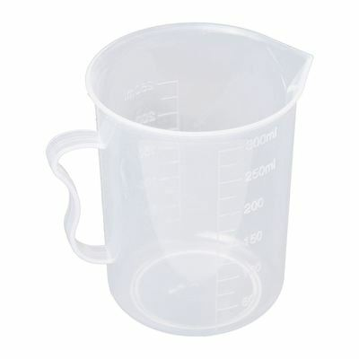 Measuring Jug 250mL Graduated Beaker Clear White Plastic Cup AD