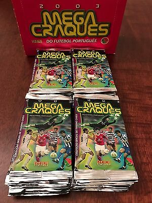 Panini Portugal Megacraques 2003 lot of 9 packs Cristiano Ronaldo Rookie?
