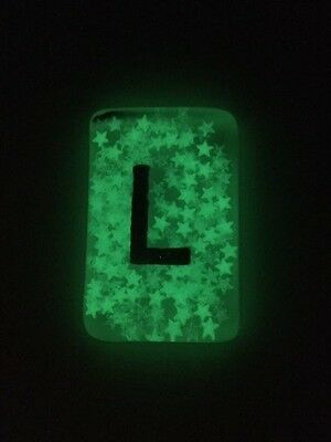 Glow in the Dark Confetti Radiography Markers - L & R - choose your own initials