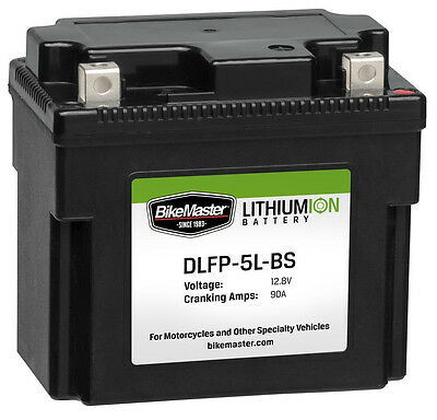 Lightweight Lithium Powersports Battery BikeMaster DLFP5L-BS replaces YTX5L-BS