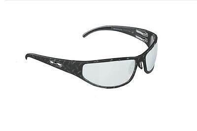 NEW ICICLES Baggers Diamond Transition Mirror Lens Sunglass in Matte Black Frame
