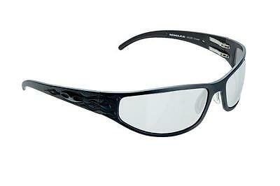 NEW ICICLES Bagger Flames Transition Mirror Lens Sunglass with Matte Black Frame