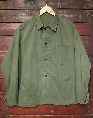 Wwii Ww2 Us Navy N-3 Hbt Twill Utility Deck Jacket P41 Usmc Vtg Military 40R