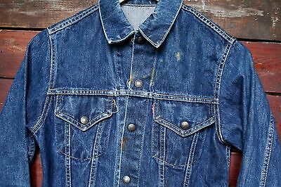 VTG 60s LEVI'S 557 BIG E TYPE III DENIM TRUCKER JACKET ORIGINAL MENS XXS BOYS M