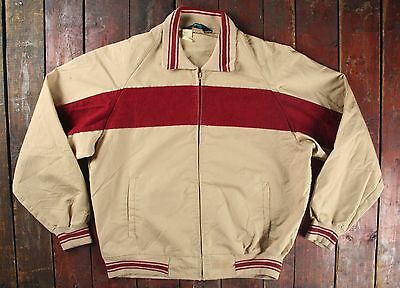 VTG 60s 70s CHAMPION RUNNING MAN TAG SPORT BOMBER JACKET TALON ZIP USA LARGE
