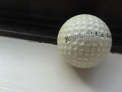 Sunningdale Golf Club  Vintage Range Golf Ball Used But No Cracks Or Splits