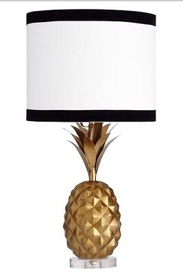 NEW Pottery Barn Teen Emily & Meritt Pineapple Table Lamp GOLD