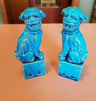 Vintage Chinese Porcelain FOO DOGS