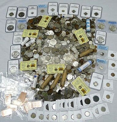 23 Coin Estate Lot! Silver,gold,proof,buffaloes,wwii!!!!