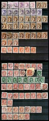 ARGENTINA 1867-1887 lot of 98 used stamps. Excellent!!