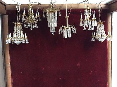 Dollhouse chandelier crystall dolhouse chandeliers 6 pieces