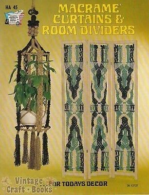 Macrame Curtains and Room Dividers Vintage Project Instruction Book NEW 1975