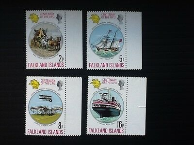 1974 FALKLAND ISLANDS Sets of 4 stamps *MNH** U.P.U. Centenary - Mi.226-229