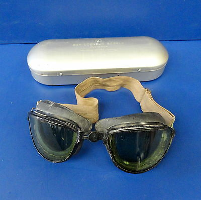 American Optical Cased Flying Goggles 100% Original