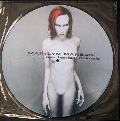 Marilyn Manson-Mechanical Animals LP picture disc w/limited bag,nin, metal, Goth