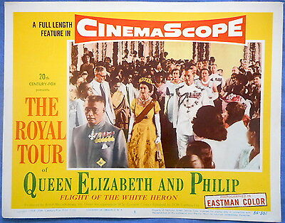 THE ROYAL TOUR OF QUEEN ELIZABETH AND PHILIP Lobby Card #3 1954