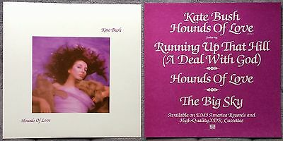 Kate Bush Hounds Of Love '85 RARE promo 12 x 12 poster flat