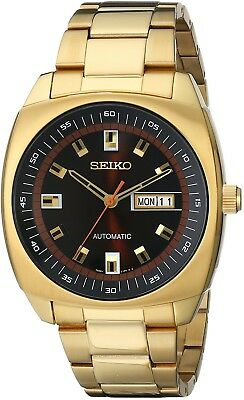 Seiko Men's Recraft Automatic Gold Tone Watch SNKM98