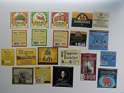 12 beer labels lot from Belgium mostly collected between 2006-2009