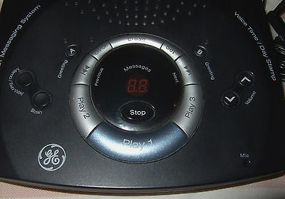 GE Digital Messaging System 29861GE2-A Answering Machine w/ 3 Mailboxes THOMSON