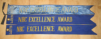 Lot Of 3 Original Army Issued Nbc/cbrn Excellence Award Guidon Flag Streamers