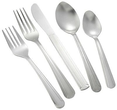 Winco Dominion Medium Weight 6-Piece Place Setting for 12 (72/Pack)