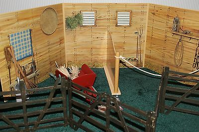 American Girl Doll Felicity Colonial Horse Stable Set Retired