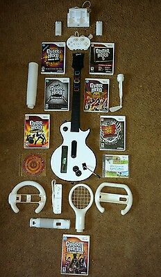 Guitar Hero live Wii U Wii Bundle lot same day shipping