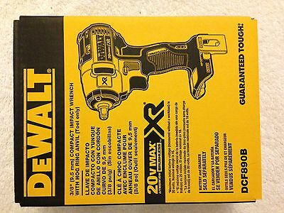 "New Dewalt DCF890B 3/8"" 20 Volt 20V Max XR Brushless Impact Wrench Cordless NIB"