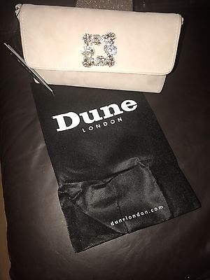 New Dune Suede Nude Clutch Bag Wedding Bling Sparkle Party