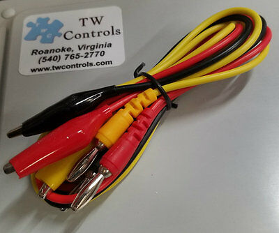"Electrical Test Leads 1 meter (39"") with 4mm Banana Plug and Alligator Clips"