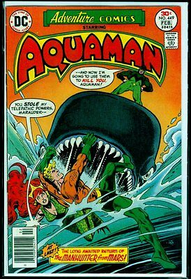 DC Comics ADVENTURE Comics #449 AQUAMAN & Manhunter From Mars VFN 8.0