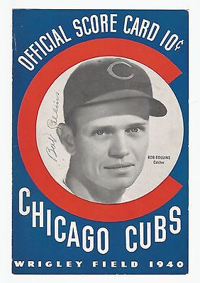 Bob Collins signed autographed Chicago Cubs program cover