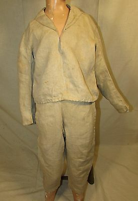 Mid Late Victorian Two Piece Boys Natural Linen Suit