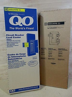 NEW Square D QO342L225G 225 Amp 3 Phase 42 Space Main Lug Load Center WITH COVER