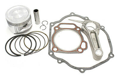 Kit For Honda GX340 Piston Rings Pin Clips Cylinder Head Gasket Connecting Rod