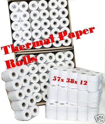100 rolls + 2 rolls free 57x38x12mm Thermal Paper Cash Register Receipt Rolls