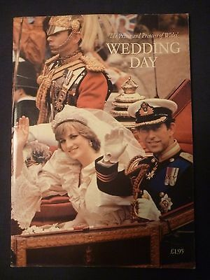 The Prince and Princess of Wales Wedding Day book/magazine