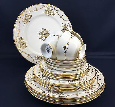 1 Of 2 20 Piece Tuscan Royalty Bone China England Serving Set Mint Vintage Plate